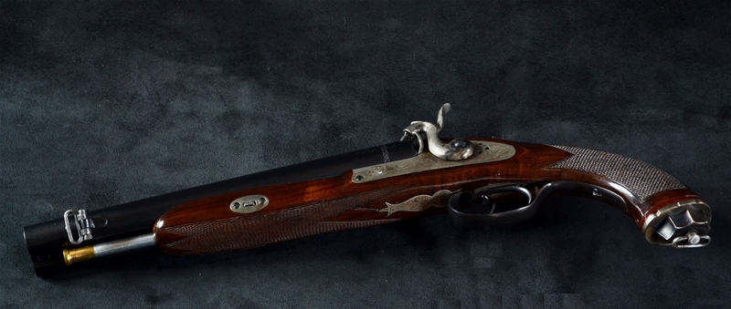 howdah pistol guns gun shoulder restoration calibre sold rod